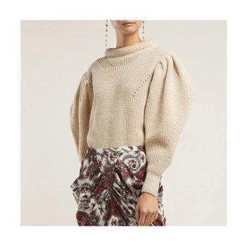 이자벨 마랑 브리타니 퍼프소매 스웨터 $645 → $452