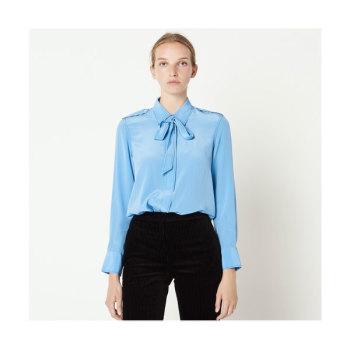 (박민영 착용) 산드로 리본 칼라 실크 셔츠 225유로 → 112.5유로
