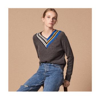 (박민영,윤은혜 착용) 산드로 크로스오버브이넥 스웨터 165유로 → 115.5유로