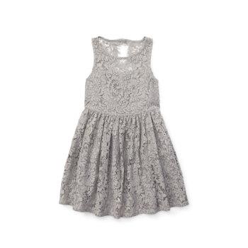 폴로 랄프로렌 걸즈 민소매 레이스 드레스 $115 → $41.99