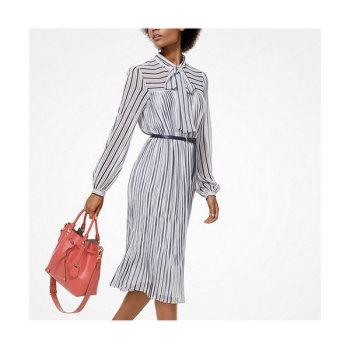 (김효진 착용) 마이클 마이클 코어스 스트라이프 조젯 드레스 $195 → $87.75