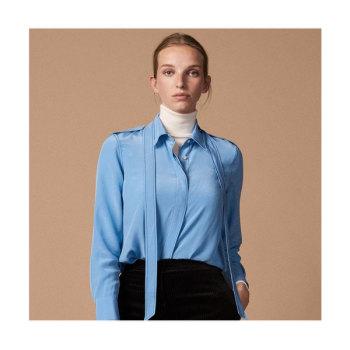 (박민영 착용) 산드로 리본 칼라 실크 셔츠 225유로 → 78.75유로