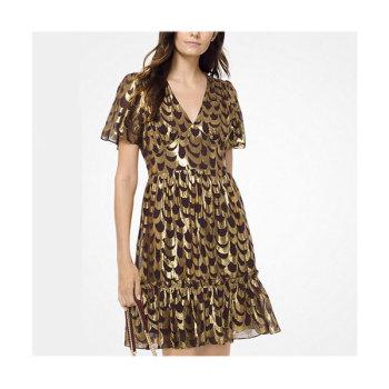 (리사 착용) 마이클 마이클 코어스 스캘럽 실크 자카드 드레스 $225 → $112.5