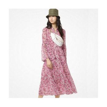 (윤아 착용) 마이클 마이클 코어스 플로럴 쉬폰 드레스 $175 → $122.5