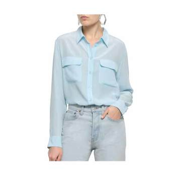(정유미 착용) 이큅먼트 시그니쳐 실크 셔츠 $248 → $124