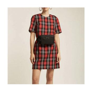 MSGM 타탄 트윌 드레스 $485 → $176