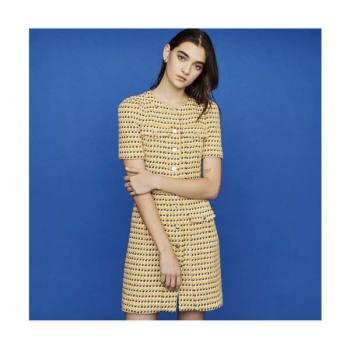 (유인나, 강소라 착용) 마쥬RILL 옐로우 트위드 드레스 295유로
