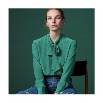 (염정아 착용) 산드로 Ugenia 실크 셔츠 $295 → $118
