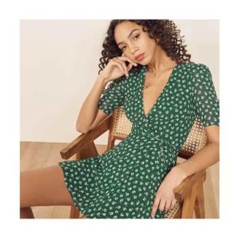 (수영 착용) 리포메이션 랩 드레스 $198