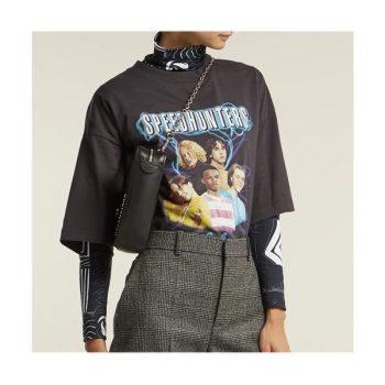 (손나은, 아이유 착용) 발렌시아가 스피드헌터 로고 프린트 티셔츠 $478 → $406.47