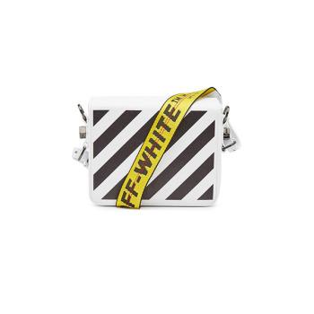 (유인나 착용) 오프 화이트 사선 프린트 플랩 가죽 숄더백 849유로 → 594.3유로