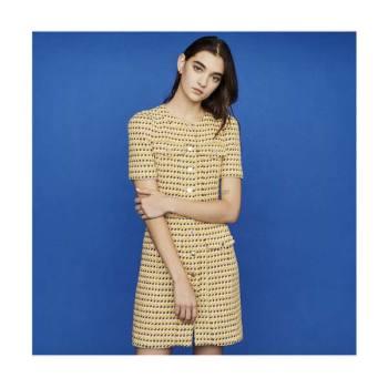 (유인나, 강소라 착용) 마쥬RILL 옐로우 트위드 드레스 $445 → $333.75