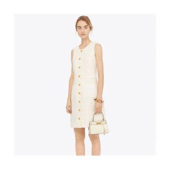 (소이현 착용) 토리버치 리넨 쉬프트 드레스 $358 → $156.75