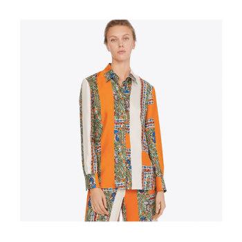 (소이현 착용) 토리버치 프린트 실크 셔츠 $398 → $298.5