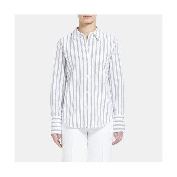 띠어리 우먼 스트라이프 코튼 셔츠 $245 → $99