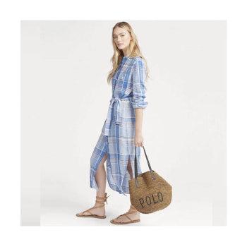 (손나은 착용) 폴로 랄프로렌 체크 리넨 드레스 $248 → $173.6