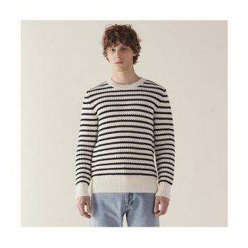 (옹성우 착용) 산드로 맨 골지 스트라이프 스웨터 $395 → $276.5
