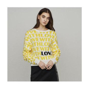(효연 착용) 마쥬 MONTY 자카드 스웨터 $265 → $185.5