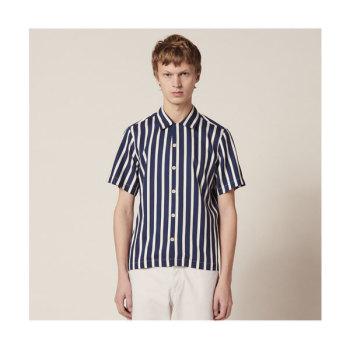 (찬열 착용) 산드로 맨 스트라이프 반팔 셔츠 $220 → $154