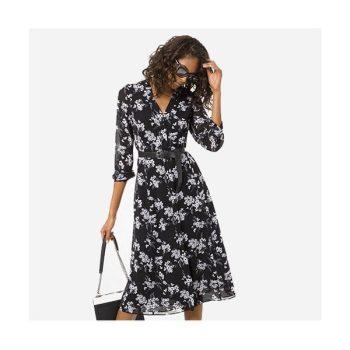 (윤아 착용) 마이클 마이클 코어스 보태니컬 프린트 조젯 셔츠드레스 $175 → $73.5