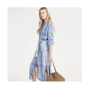 (손나은 착용) 폴로 랄프로렌 체크 리넨 드레스 $248 → $122.49