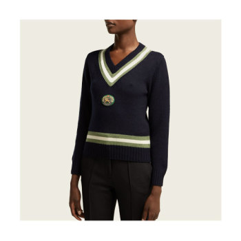 (제니 착용) 버버리 모리스 아플리케 스웨터 $1,935 → $461.43