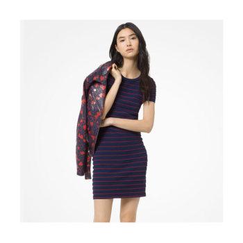 (이사배 착용) 마이클 마이클 코어스 러플 스트라이프 드레스 $195 → $58.5