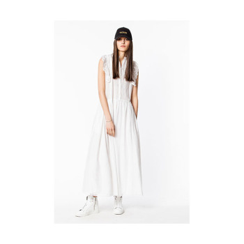 (한혜진 착용) 쟈딕 앤 볼테르 ROMANE 화이트 롱 드레스 $478 → $286.8