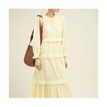 (추자현, 기은세 착용) 이자벨 마랑 에뚜왈 아보니 러플 티어드 드레스 $555 → $243.27