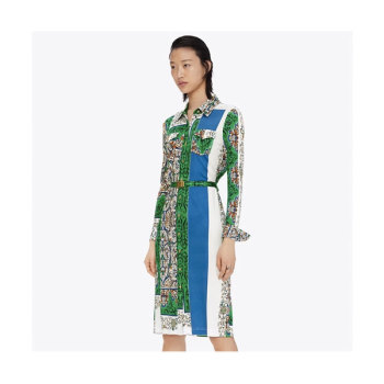 (소이현 착용) 토리버치 프린트 셔츠드레스 $498 → $186.75