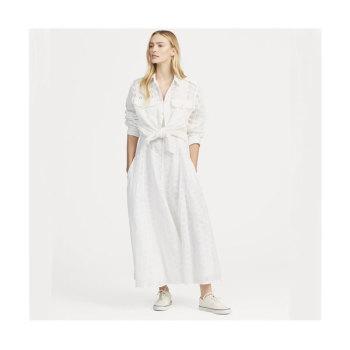(손나은 착용) 폴로 랄프로렌 아일렛 리넨 드레스 $498 → $244.99