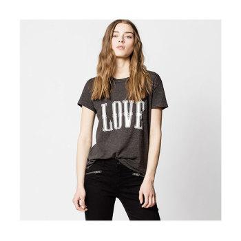 (박민영 착용) 쟈딕 앤 볼테르 러브 프린트 티셔츠 $168 → $58.8