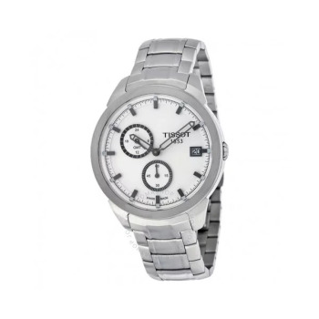 티쏘 티타늄 GMT 화이트 다이얼 남성 시계  $795 → $199.99