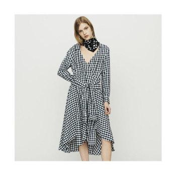 마쥬 RAPRITA 깅엄 프린트 셔츠 드레스 $415 → $124.5