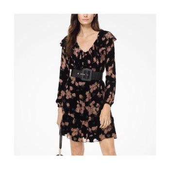 마이클 마이클 코어스 로즈 프린트러플 드레스 $225 → $90