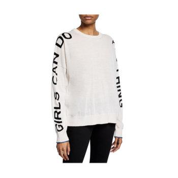 (캠핑클럽 이효리 착용) 쟈딕 앤 볼테르 RONY레터링스웨터 $298 → $137.4