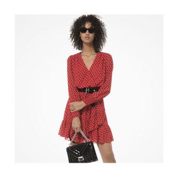 (한혜진, 차예련, 도연 착용) 마이클 마이클 코어스 도트 조젯 러플 드레스 $155 → $103.07