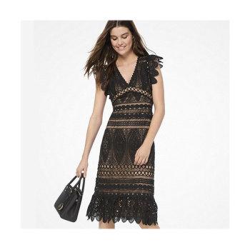 (한혜진, 윤아 착용) 마이클 마이클 코어스 메달리온 레이스 드레스 $325 → $117