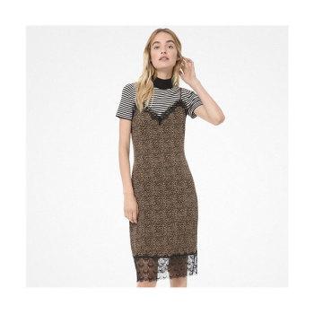 (도연, 차예련 착용) 마이클 마이클 코어스 미니 레오파드 슬립 드레스 $175 → $116.37