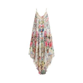 (제니 착용) 카밀라 보헴 프린트 플리츠 실크 미디 드레스 $895 → $357.6