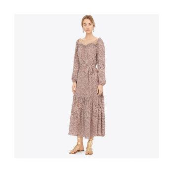 토리버치 플로럴 프린트 조젯 맥시 드레스 $898 → $186.75