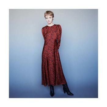 (아이유 착용) 마쥬 새틴 맥시 드레스 $415 → $311.25