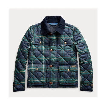 폴로 랄프로렌 걸즈 타탄 퀼팅 자켓 $115 → $80.5