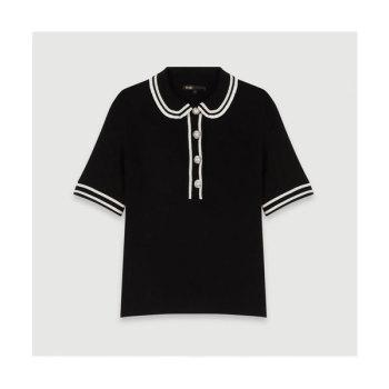 마쥬 MEXICO 콘트라스트 폴로 스웨터 $265 → $198.75