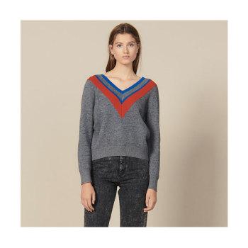 (오나라 착용) 산드로 브레이드 트리밍 브이넥 스웨터 $340→ $255