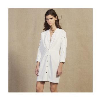 (김하늘, 유인나 착용) 산드로 버튼 디테일 셔츠 드레스 $395 → $237