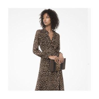 마이클 마이클 코어스 레오파드 조젯 랩 드레스 $195 → $97.25