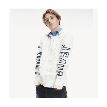 타미 힐피거 맨 케이블니트 시그니처 스웨터 $99.5 → $59.49