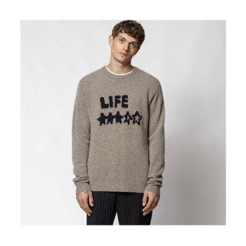(정해인 착용) 쟈딕 앤 볼테르 BENNY LIFE레터링 스웨터 420유로 → 210유로