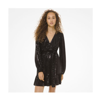 (화사 착용) 마이클 마이클 코어스 미러 도트 크로스오버 드레스 $165